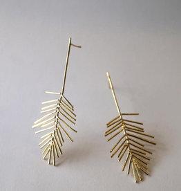 Marmod8 Boucles d'oreilles Leaves Gold Plating Marmod8