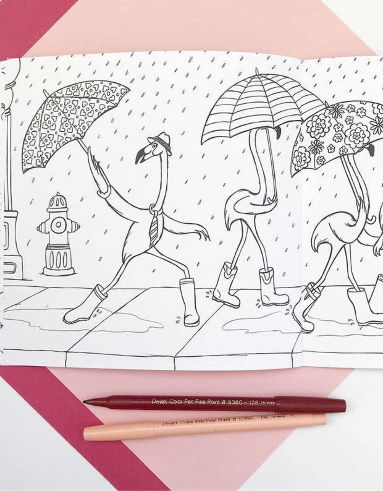 Amelie Legault Cahier à colorier Amélie Legault Les Flamants Roses