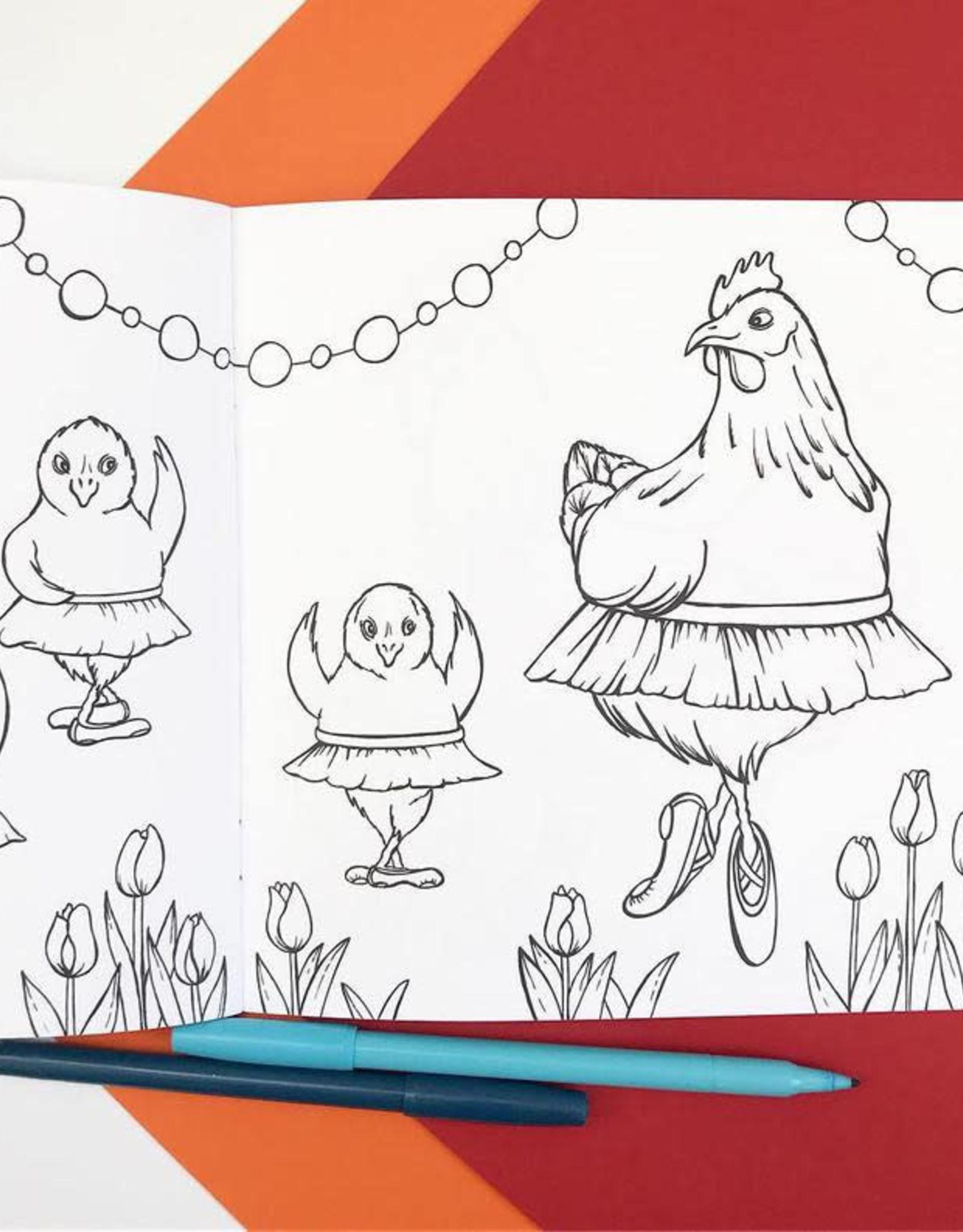 Amelie Legault Cahier à colorier Amélie Legault Les Poules à la mode