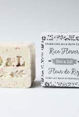 Dot and Lil Cube de Bain Effervescent Dot & Lil  Fleur de Riz