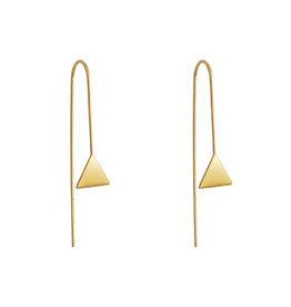 Lost & Faune BO Fils et pendentifs géométriques AH2021 Lost & Faune Triangle Or