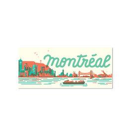 Paperole Carte postale Paperole Skyline Montréal