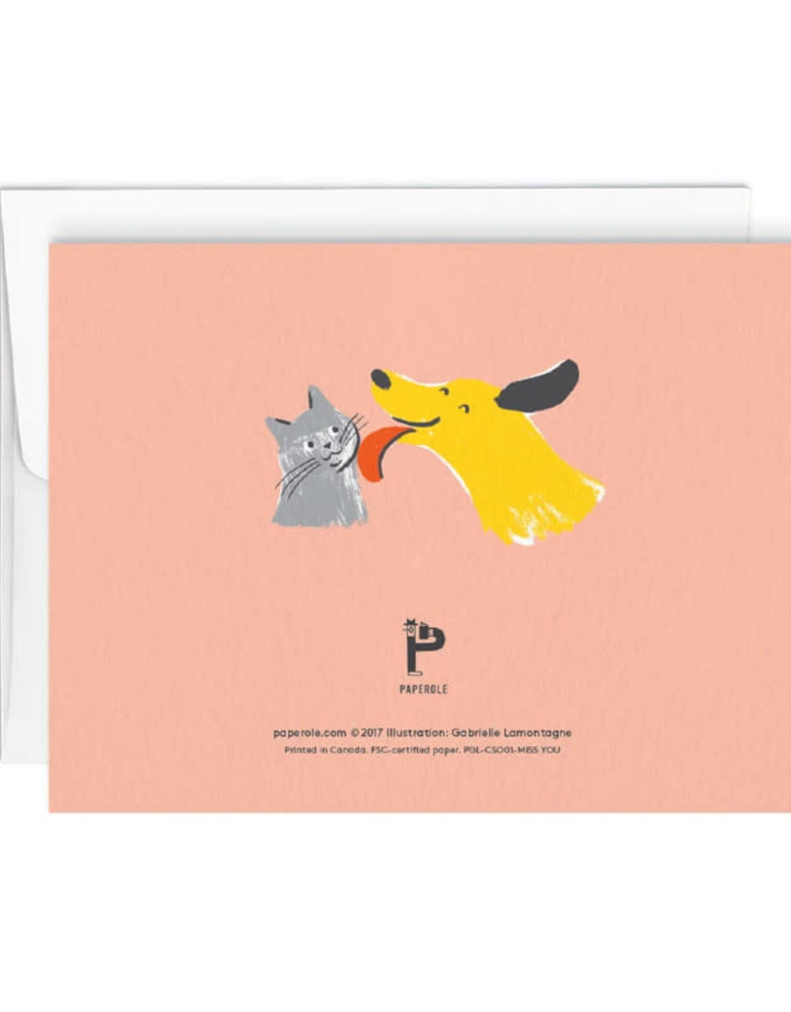 Paperole Carte de souhait Paperole Miss You