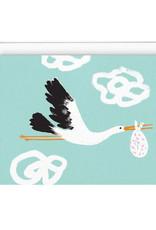 Paperole Carte de souhait Paperole Cigogne