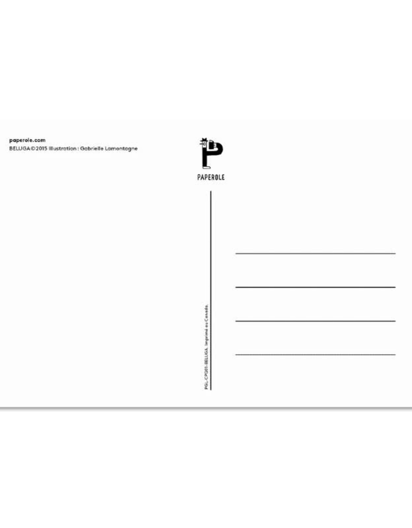 Paperole Carte postale Paperole Béluga