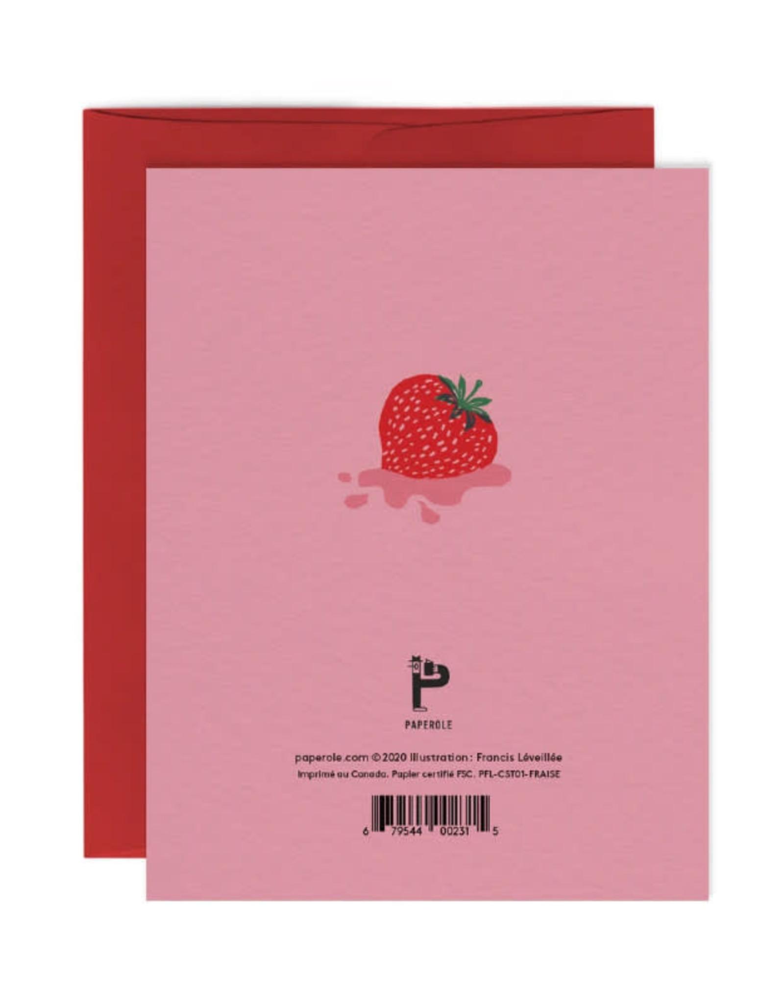 Paperole Carte de souhait Paperole Fraise
