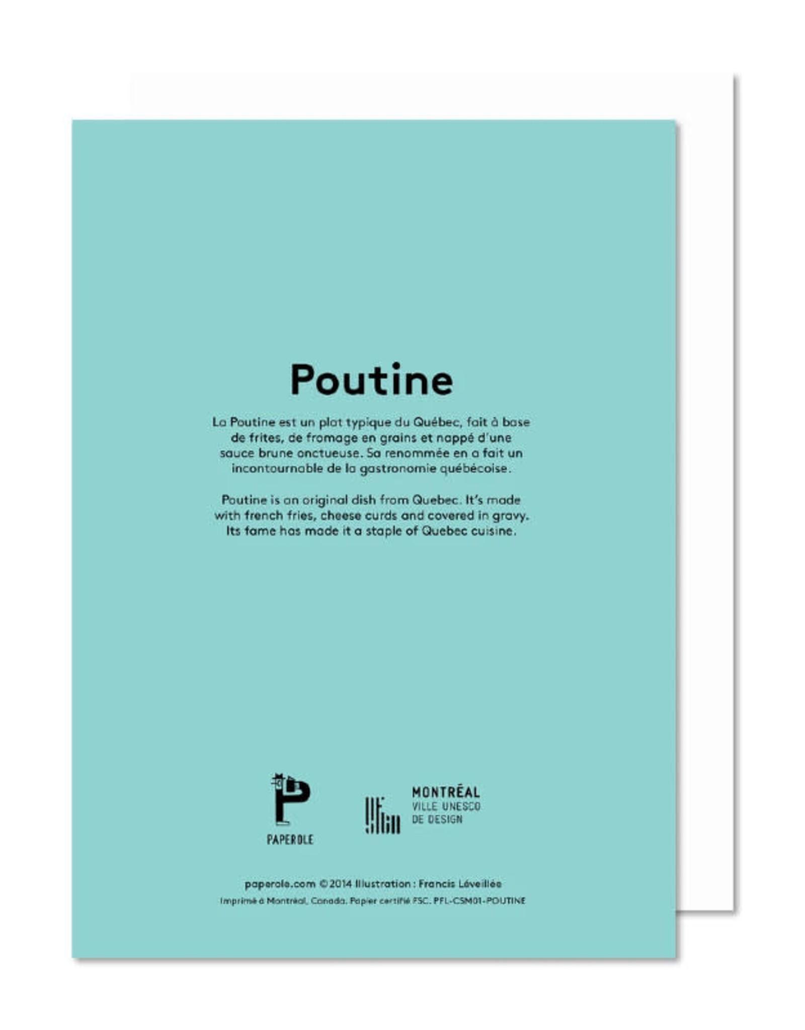 Paperole Carte de souhait Paperole Poutine