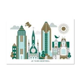 Paperole Carte postale Paperole Je t'aime Montréal