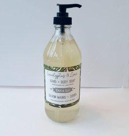 Dot and Lil Savon liquide 16 oz. Dot & Lil Eucalyptus & lime