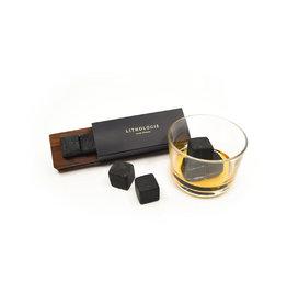 Lithologie Ensemble de 4 pierres à Whisky- Granulite foncée à Hornblende