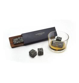 Lithologie Ensemble de 4 pierres à Whisky- Gabbro