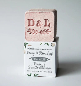 Dot and Lil Cube de Bain Effervescent Dot & Lil Pivoine & Feuille d'olivier
