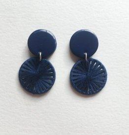 CartoucheMTL Boucles d'oreilles Léa CartoucheMTL Bleu