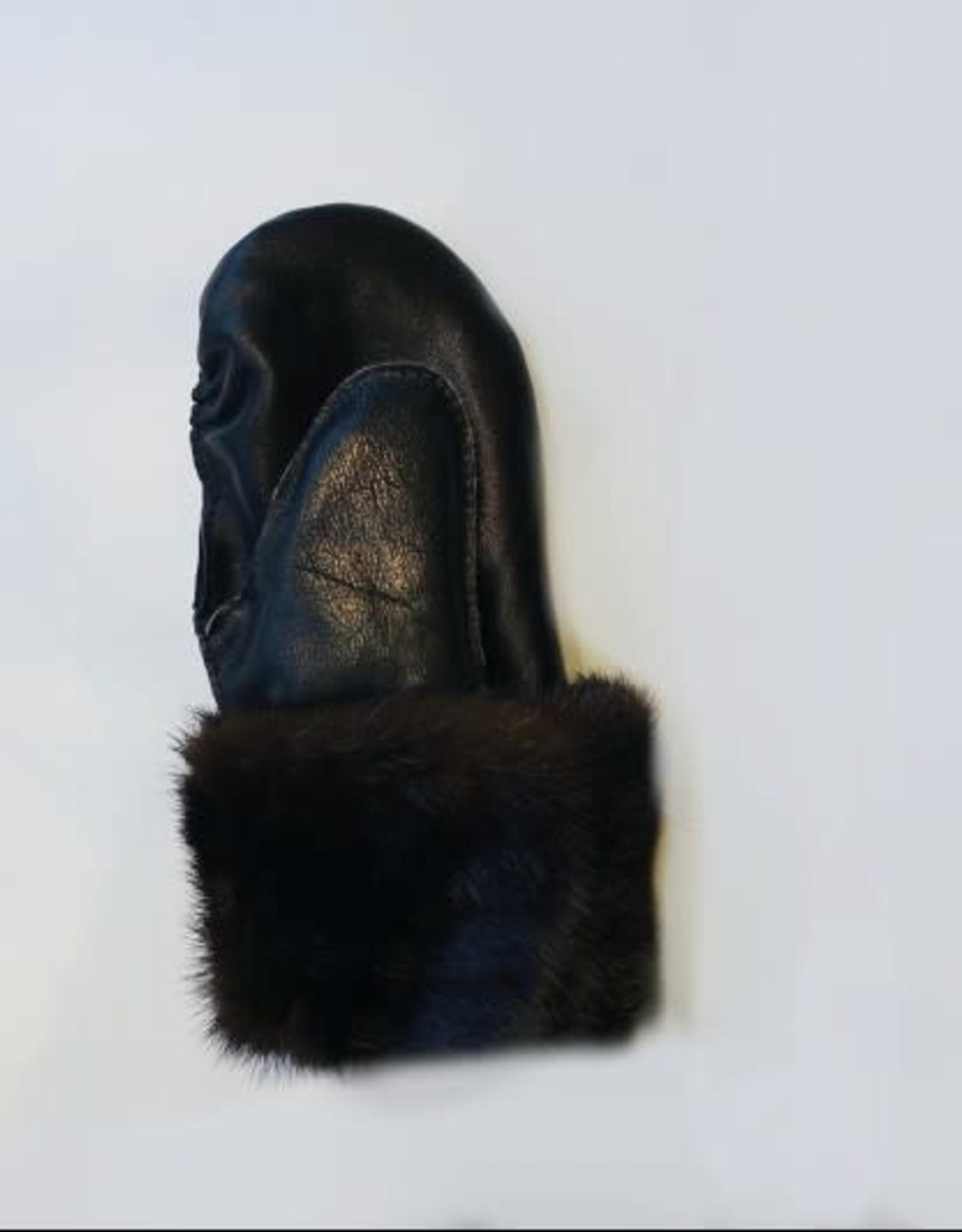 Kazak Mitaine Mocassin Kazak Vison foncé/ Noir