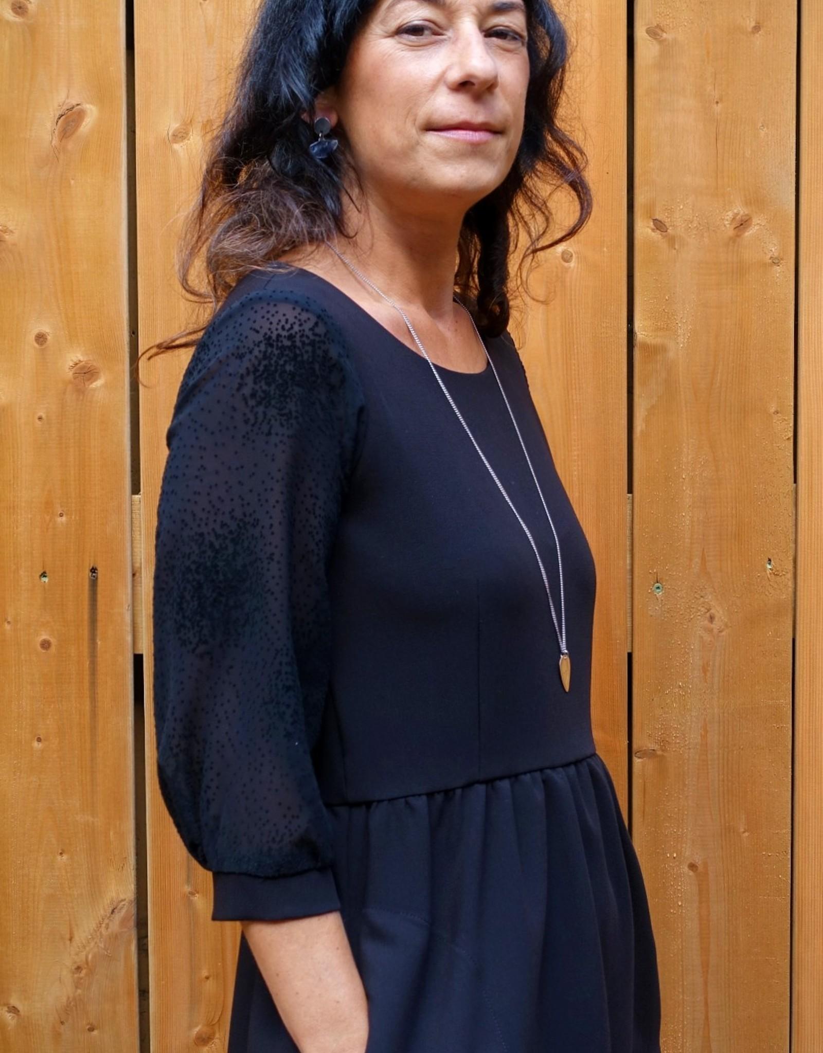 Eve Lavoie Robe Patti AH2021 Ève Lavoie Noir/ Manches transparentes