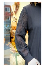Eve Lavoie Robe chemisier Winona AH2021 Ève Lavoie Noir/ Transparent noir