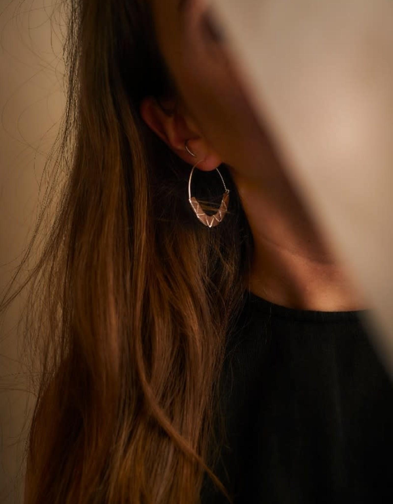 La Manufacture Boucles d'oreilles Mylène La Manufacture Laiton