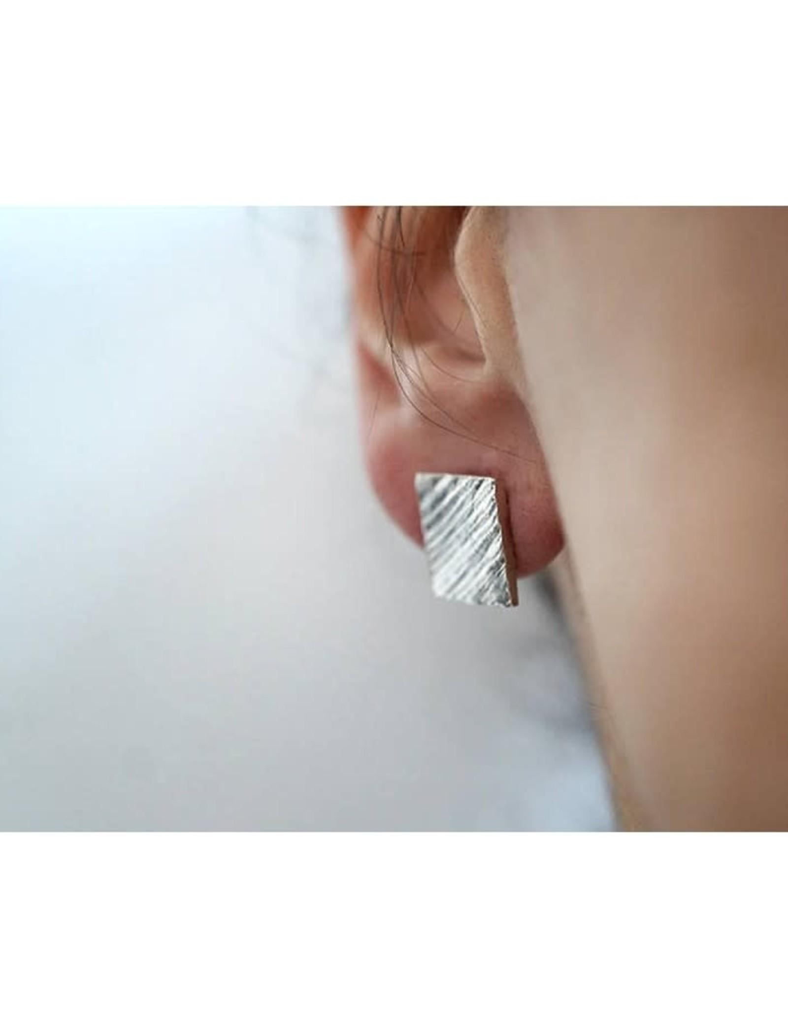 Marmod8 Boucles d'oreilles Squares Texture Marmod8 Argent