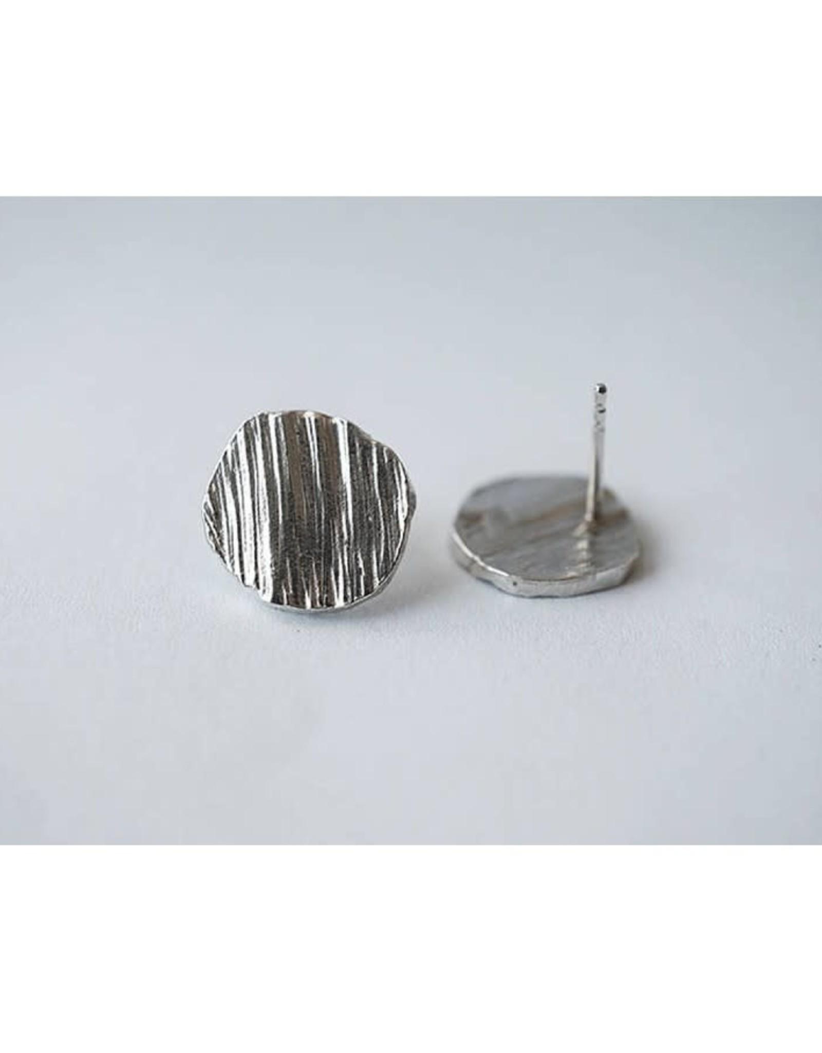 Marmod8 Boucles d'oreilles Circles Texture Marmod8 Argent