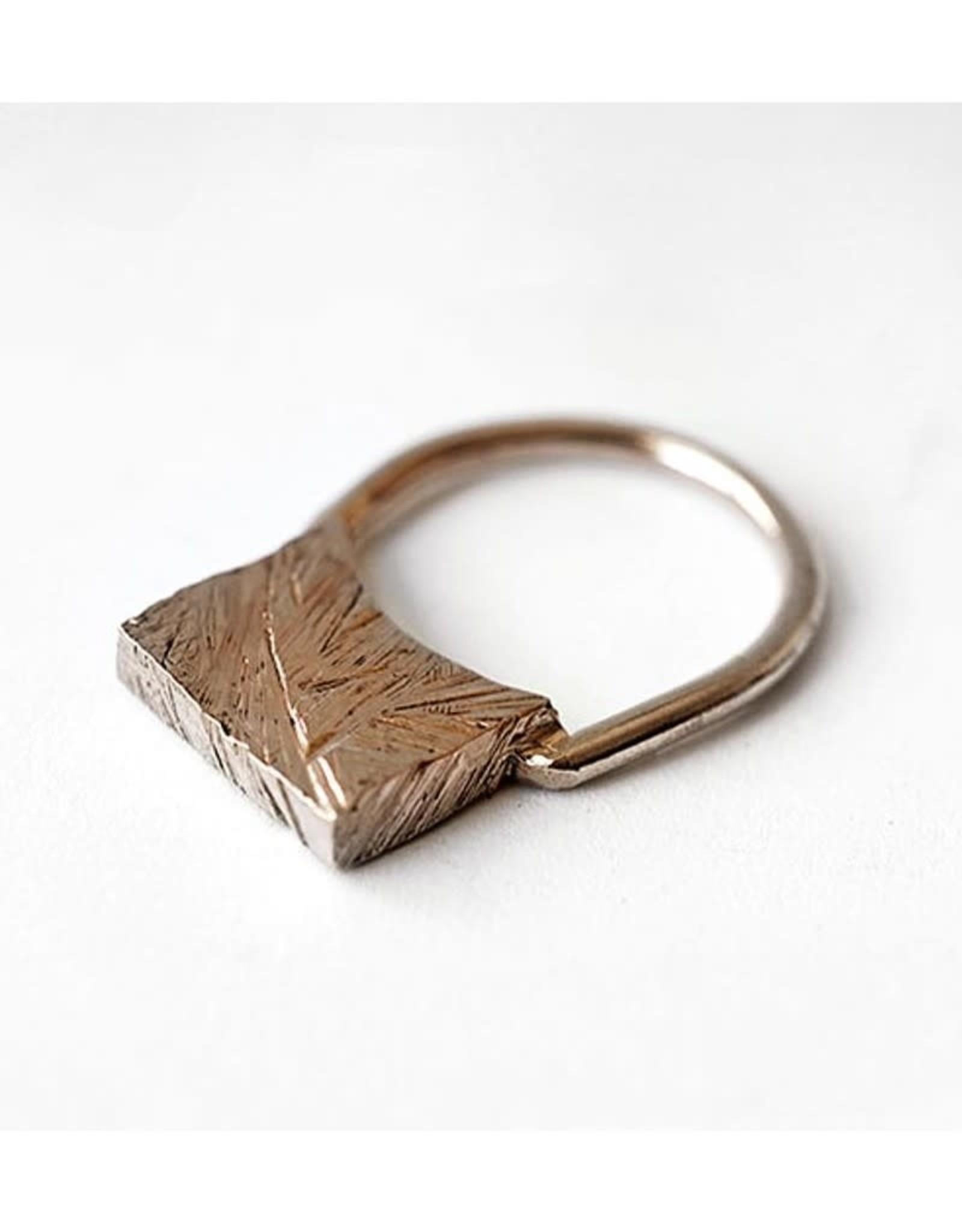 Marmod8 Bague Square Texture Marmod8 Bronze T9