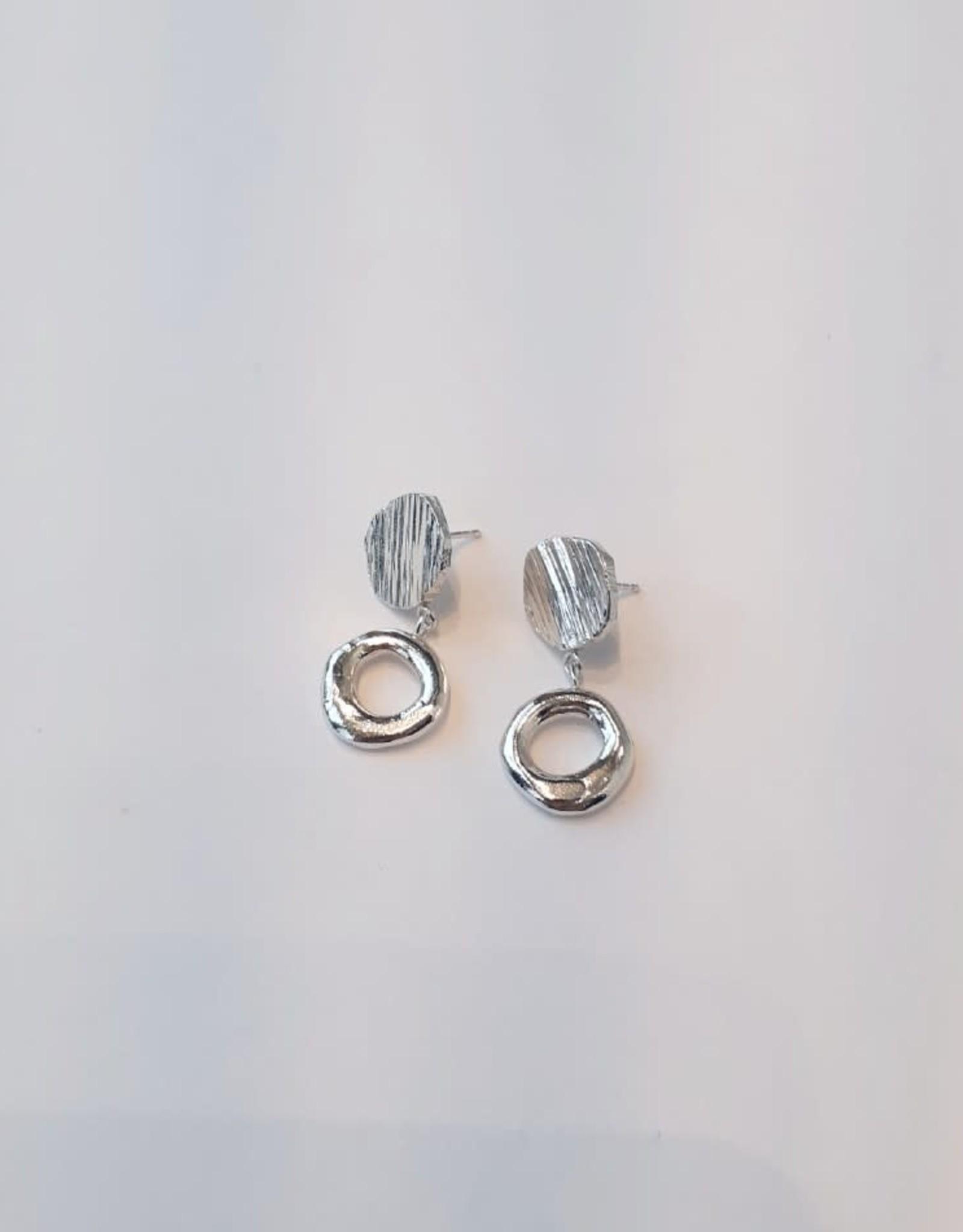 Marmod8 Boucles d'oreilles Circles-Donuts Texture Marmod8 Argent Sterling
