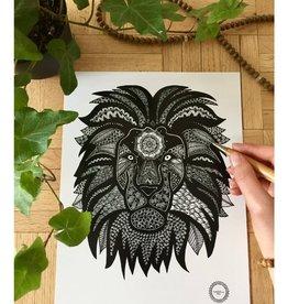 Mandalove by Florence Affiche Mandalove Lion