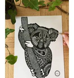 Mandalove by Florence Affiche Mandalove Koala
