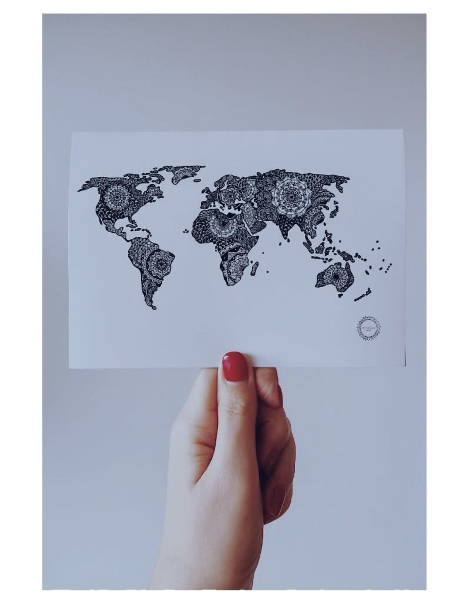 Mandalove by Florence Carte Mandalove Worldmap