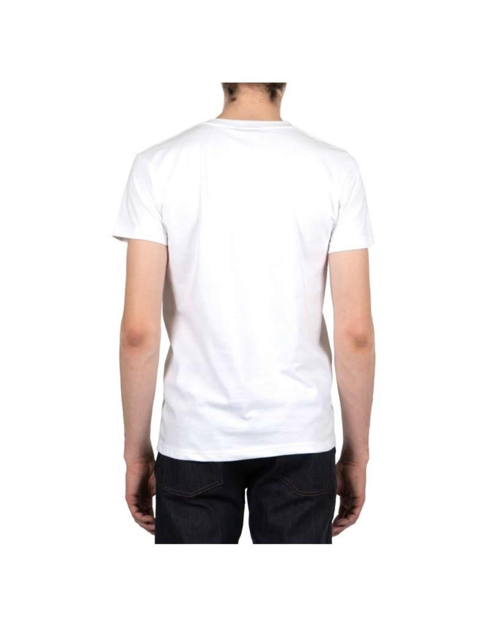 Naked and Famous Pocket Tee PE21 Naked & Famous White Japan Cranes