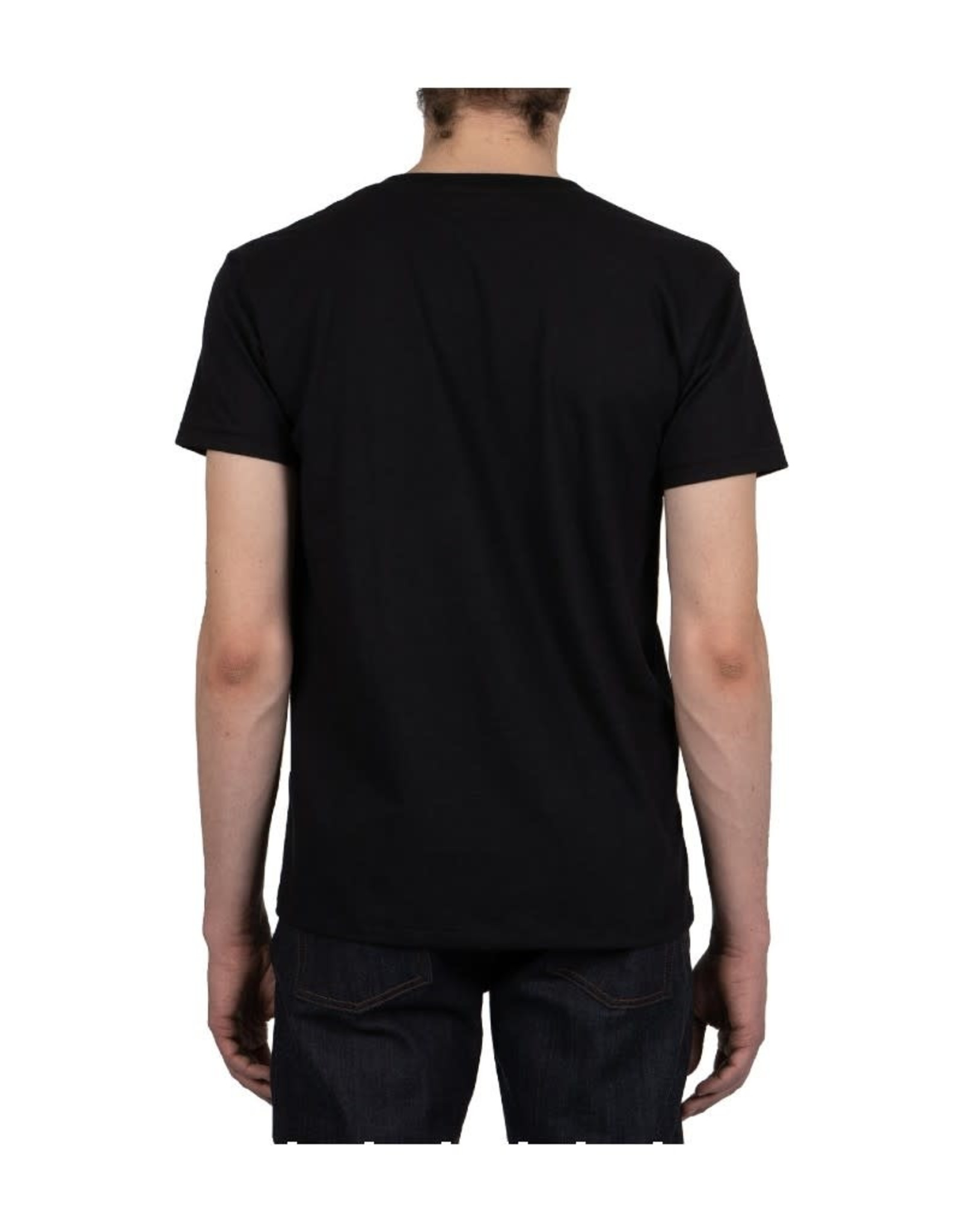 Naked and Famous Pocket Tee PE21 Naked & Famous Black Japan Cranes