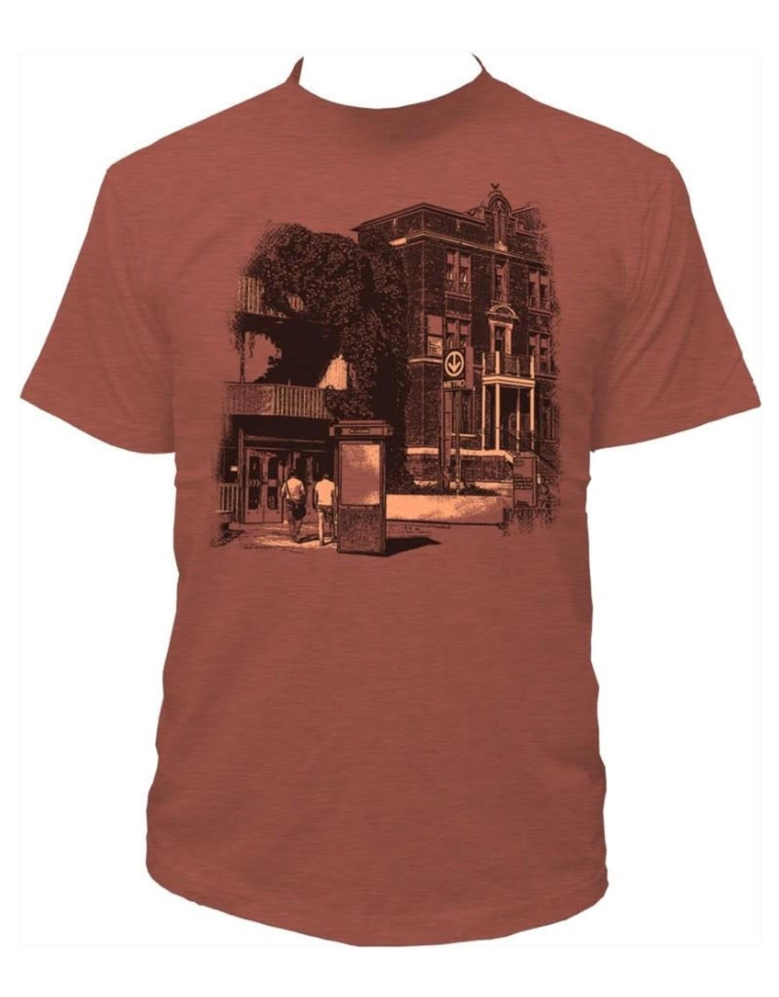 Tresnormale T-Shirt Homme Tresnormale Métro Côte-des-Neiges Argile Chiné