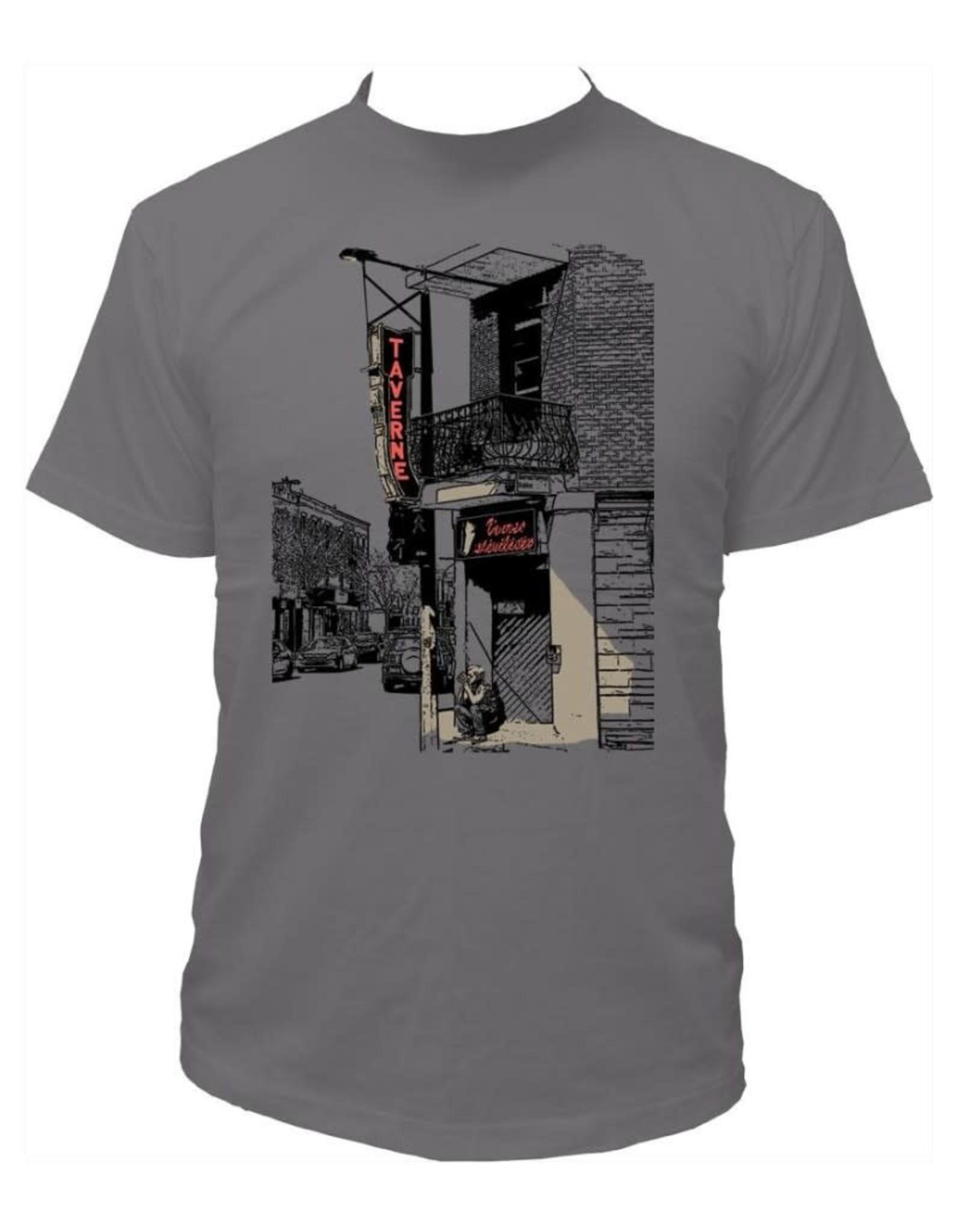 Tresnormale T-Shirt Homme Tresnormale Taverne Gris Asphalte