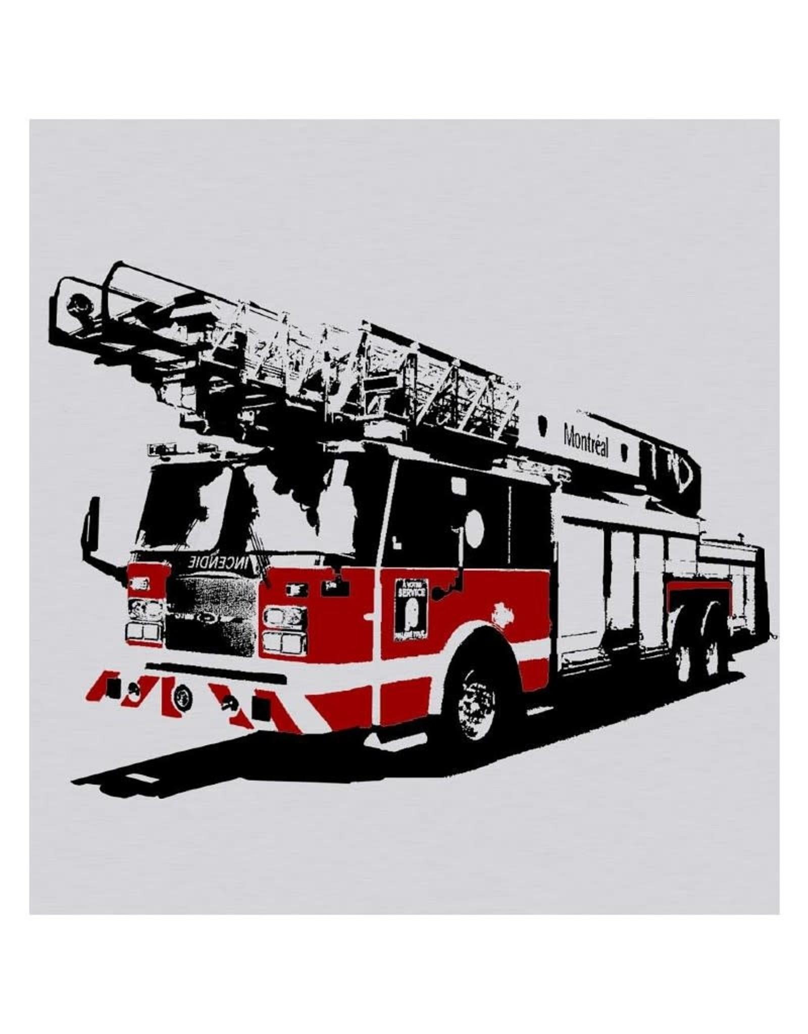 Tresnormale T-shirt Enfant Tresnormale Camion de pompier de Montréal Gris Chiné