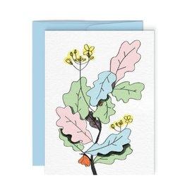 Paperole Carte de souhait Paperole Fleurs 01