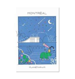 Paperole Carte postale Paperole Planétarium