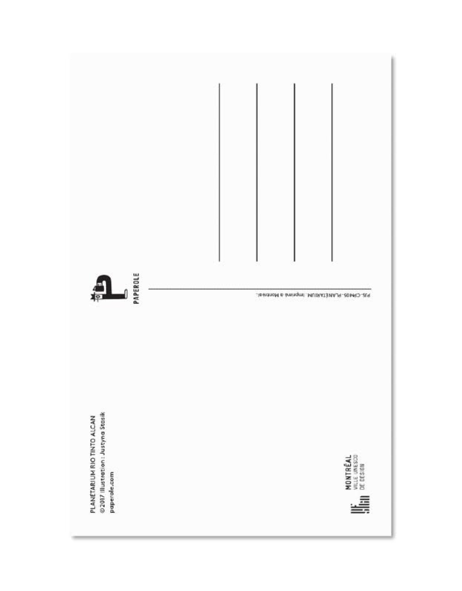 Paperole Carte postale Paperole Canoë