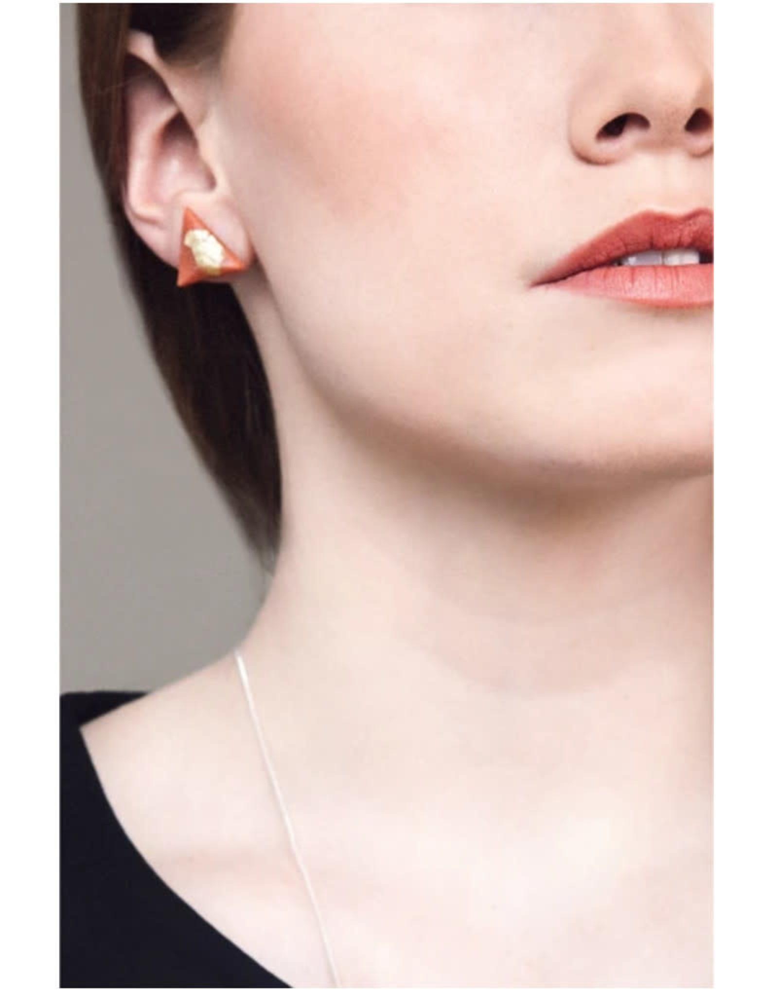 Bijoux Pepine Boucles d'oreilles Pyramide Bijoux Pépine Corail