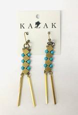 Kazak Boucles d'oreilles Inverness PE21 Kazak Turquoise