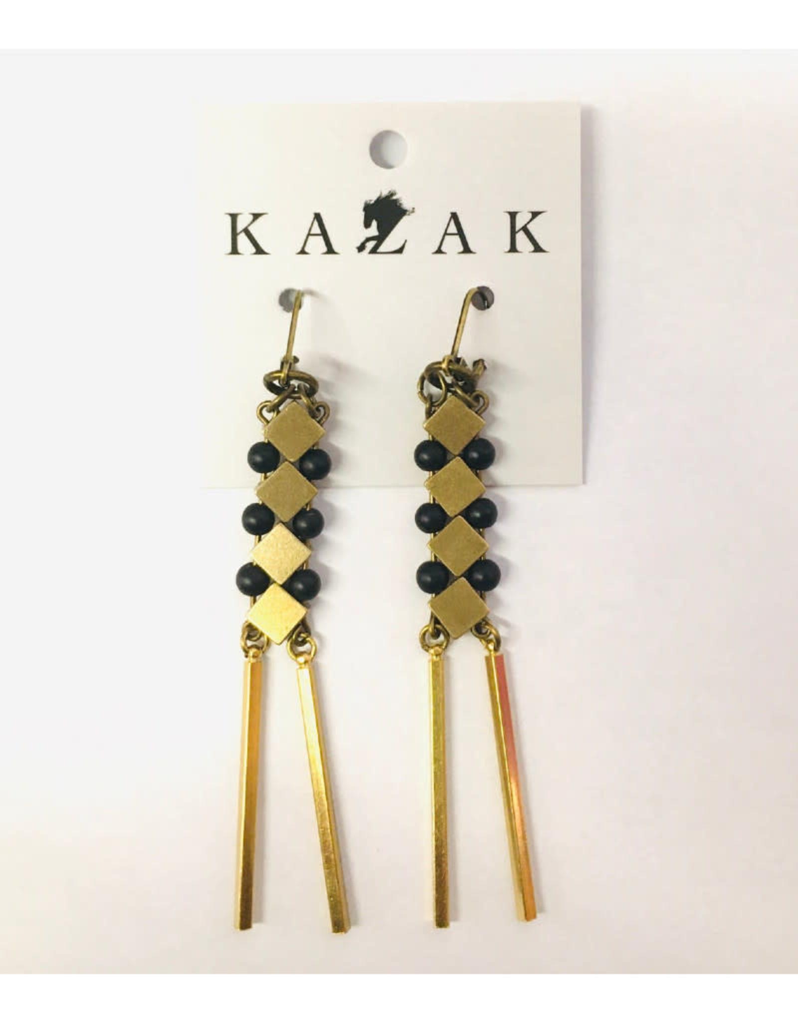 Kazak Boucles d'oreilles Inverness PE21 Kazak Noir