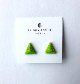 Bijoux Pepine Boucles d'oreilles Pyramide Bijoux Pépine Lime