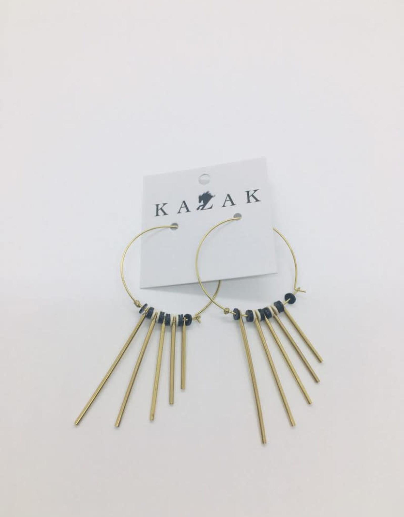 Kazak Boucles d'oreilles Bolzano PE20 Kazak Noir et crème