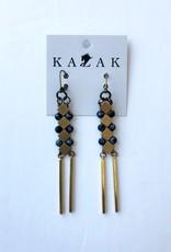 Kazak Boucles d'oreilles Inverness PE21 Kazak Noir et Blanc