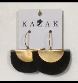 Kazak Boucles d'oreilles Datong AH1819 Kazak  Vison Noir