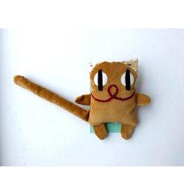 Raplapla Serge le chat en velours Orange Raplapla
