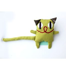 Raplapla Serge le chat Jaune - Vert Raplapla