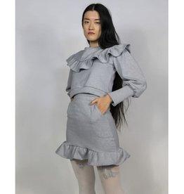RightfulOwner Fleece Miniskirt PE21 Rightful Owner Grey Alya