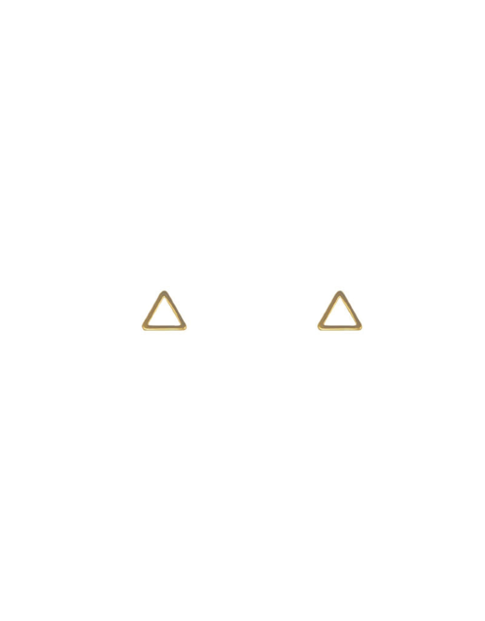 Lost & Faune Boucles d'oreilles tiges Triangles Lost & Faune PE21 Or