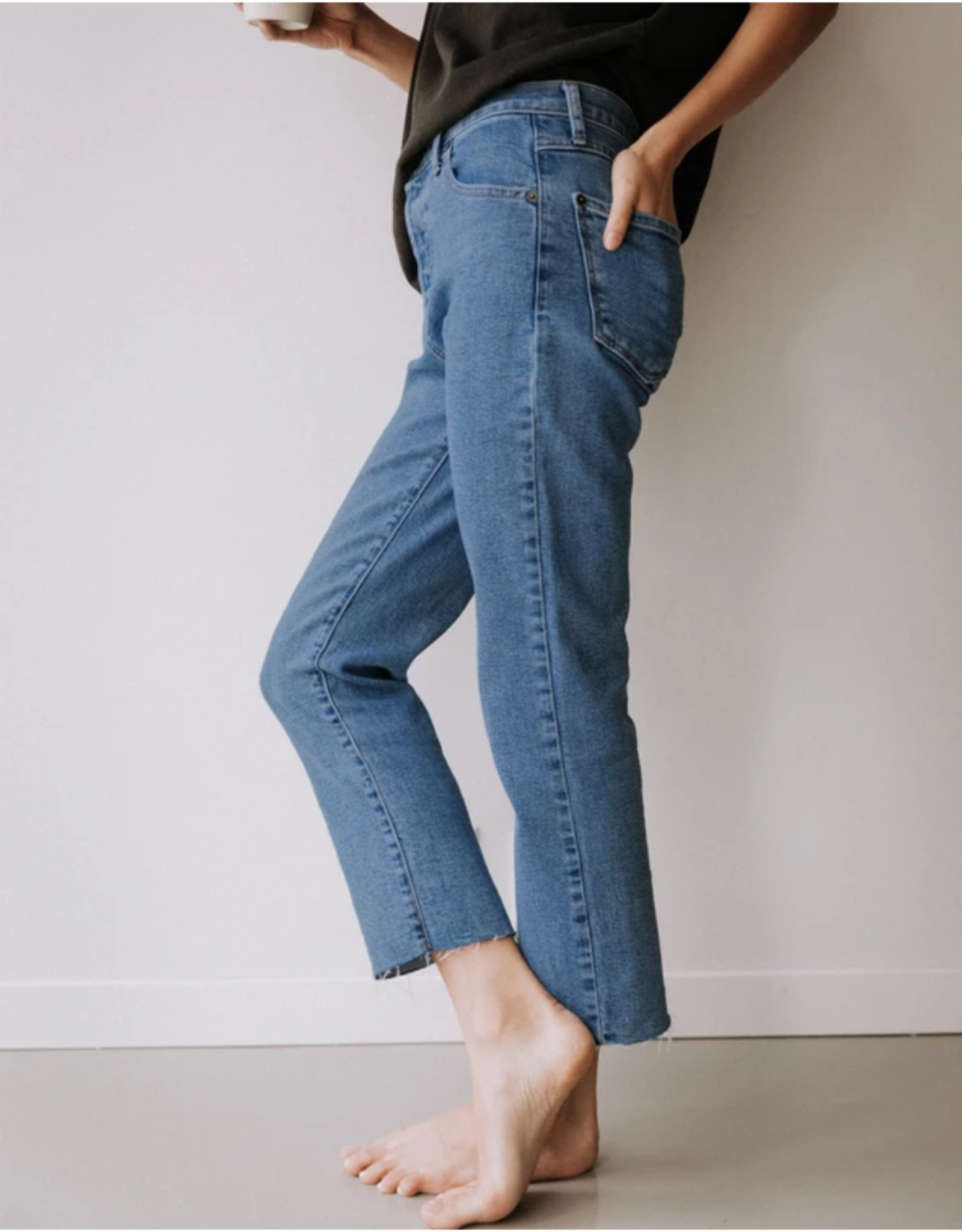 Yoga Jeans High Rise Straight 2067 Yoga Jeans Frost