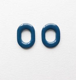 CartoucheMTL Boucles d'oreilles Chloé CartoucheMTL Bleu foncé