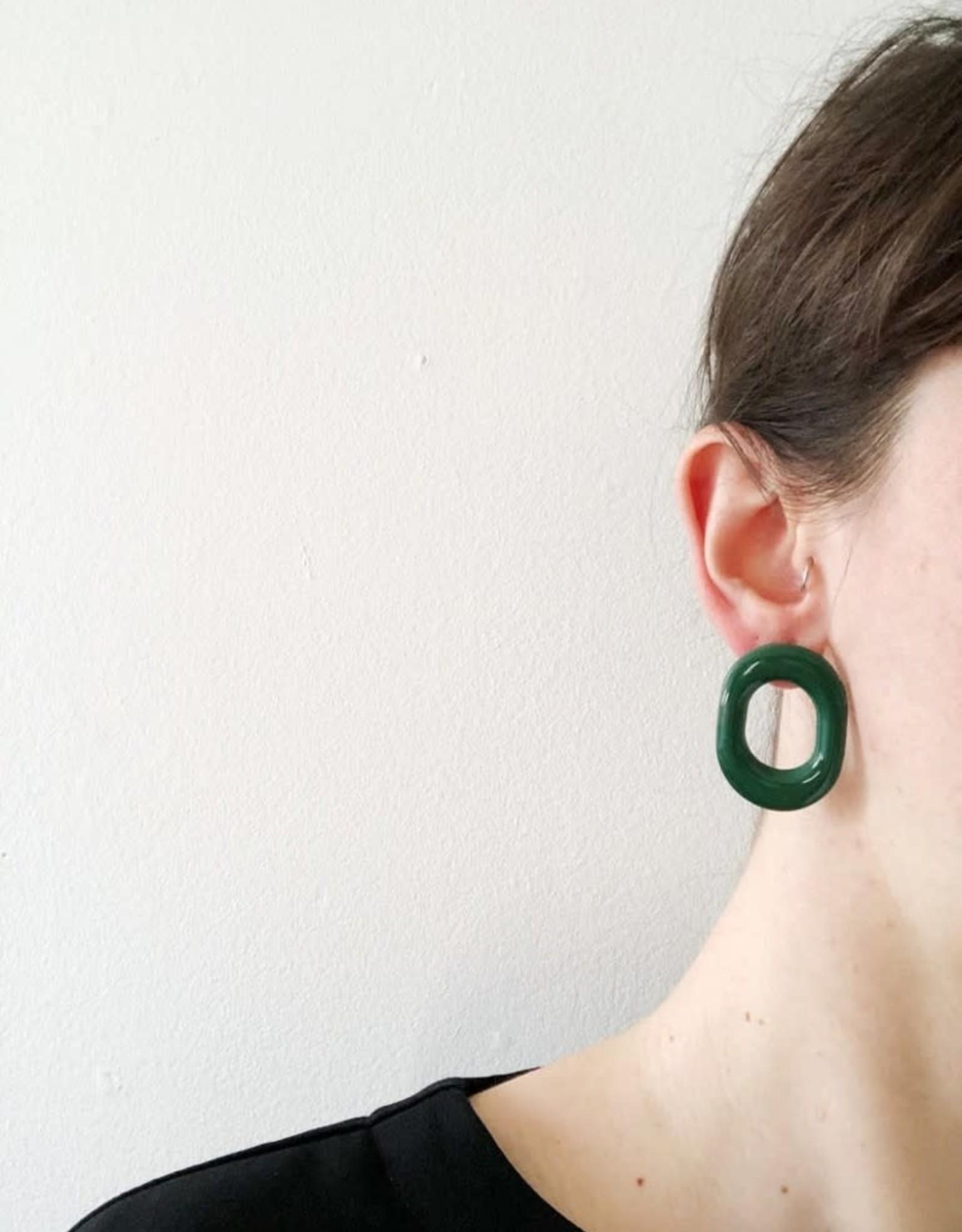 CartoucheMTL Boucles d'oreilles Chloé CartoucheMTL Émeraude